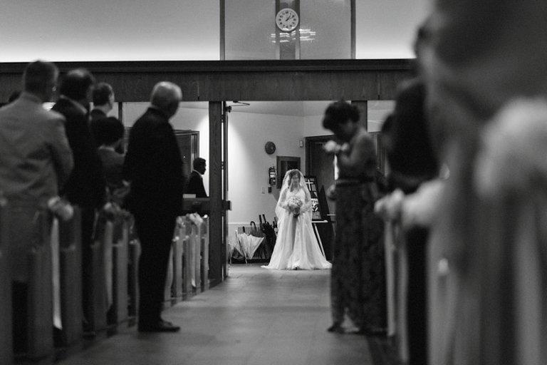 unique church wedding photo