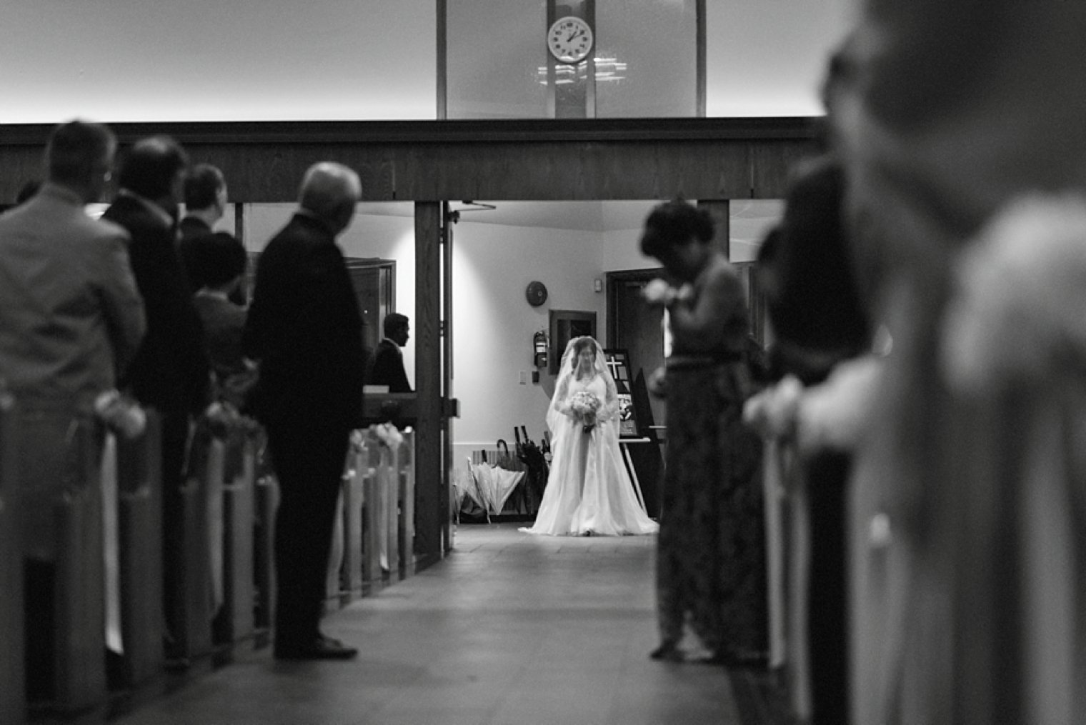 unique church wedding photo