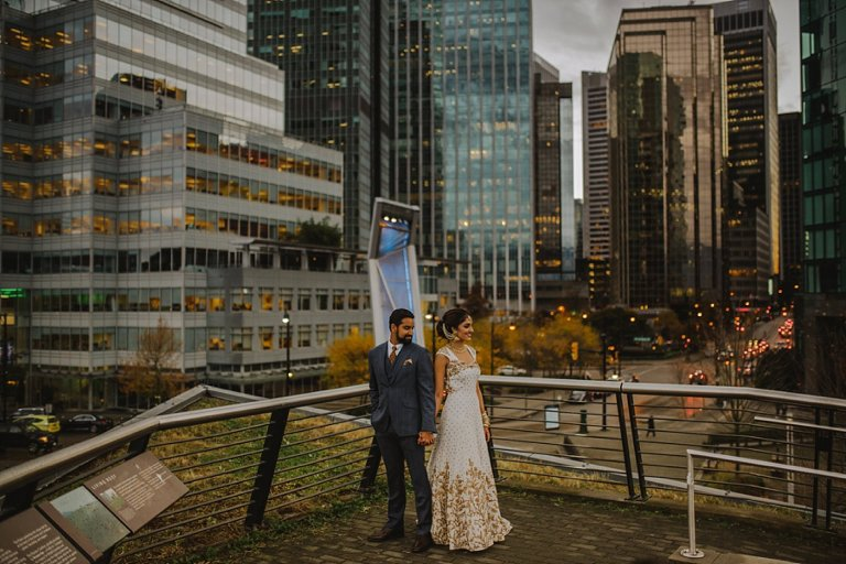 downtown vancouver wedding portraits
