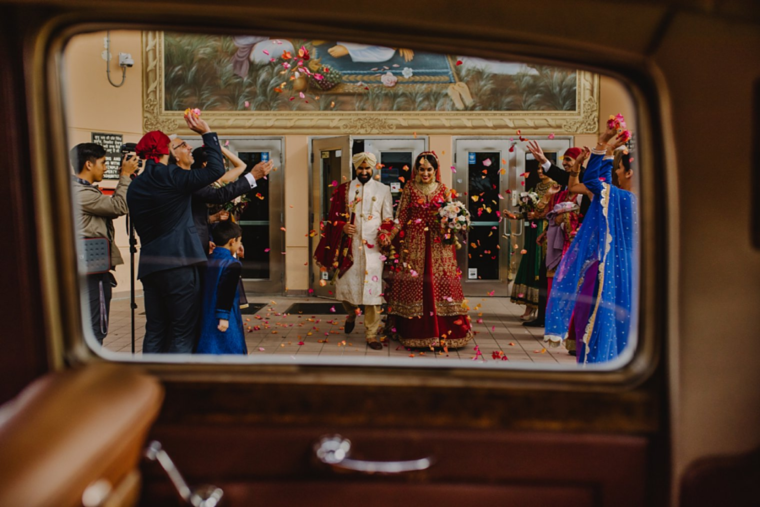 best indian wedding ceremony exit