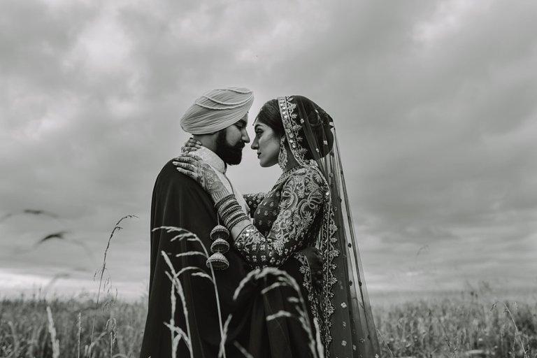 fine art indian wedding portrait