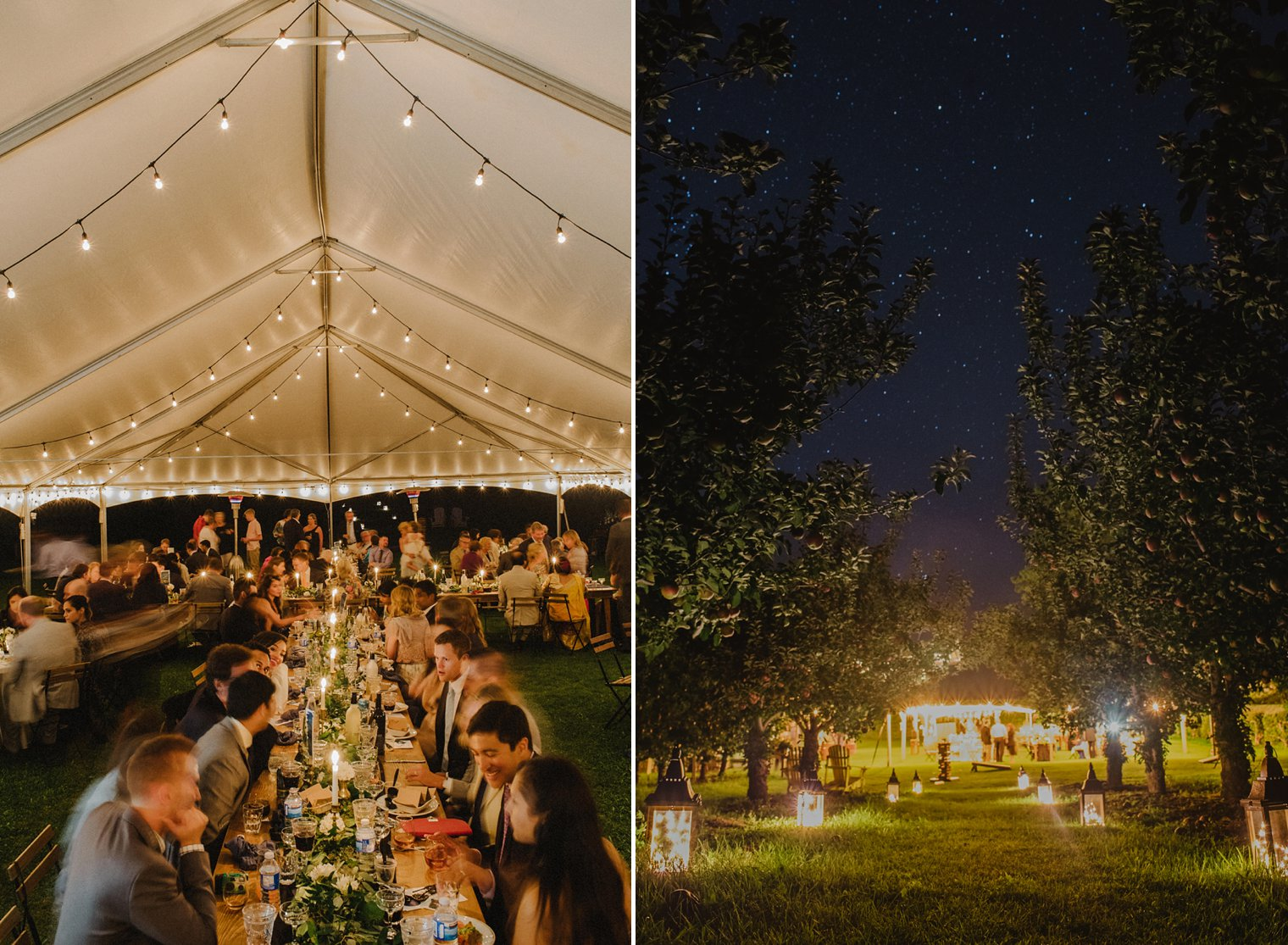 unique tent wedding details
