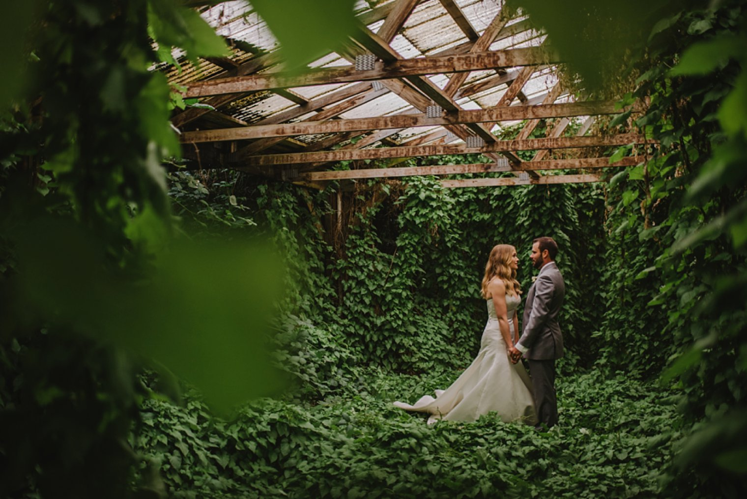 vancouver abandoned building wedding photos