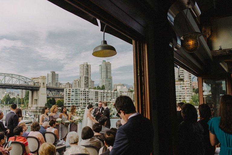 unique bridges restaurant wedding portrait