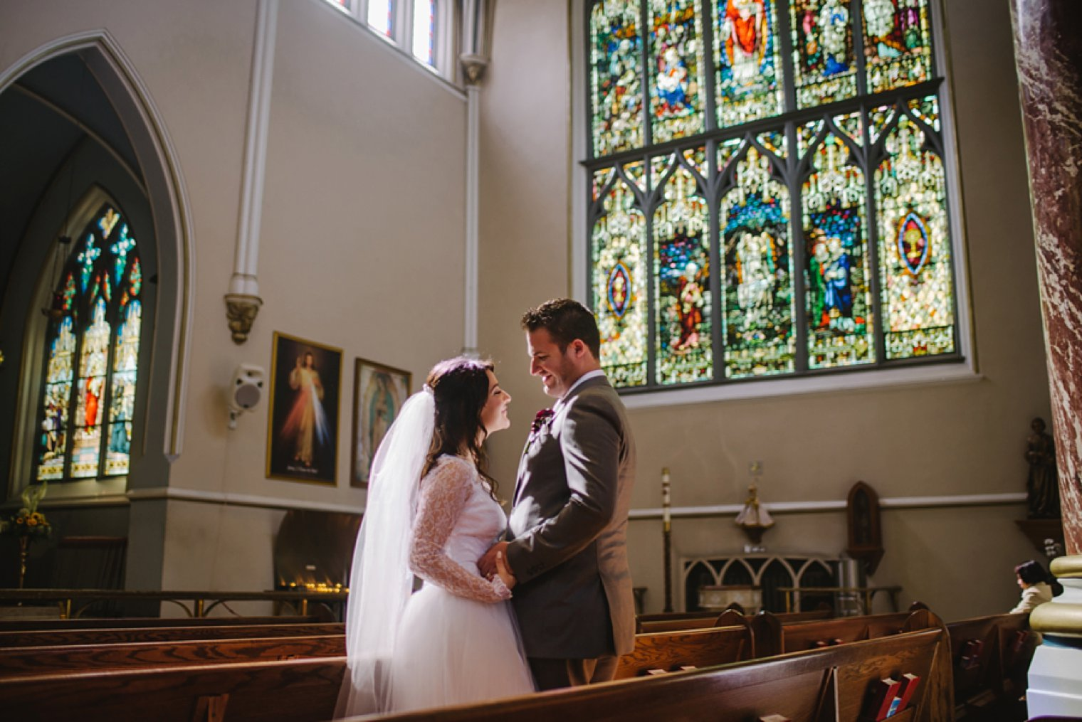 vancouve cathedral wedding portraits