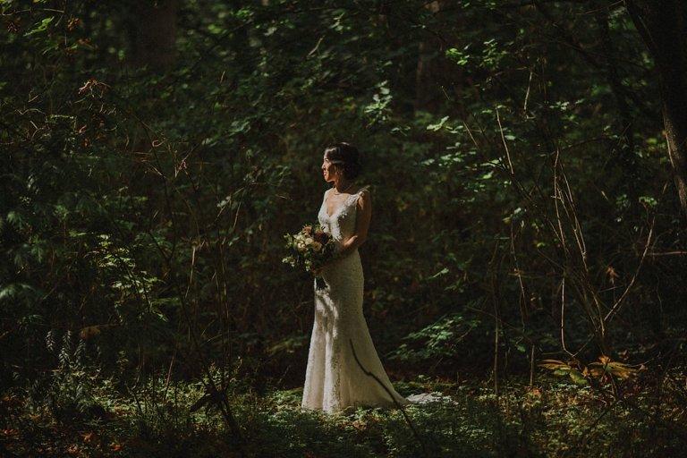 pacific spirit rim wedding portraits