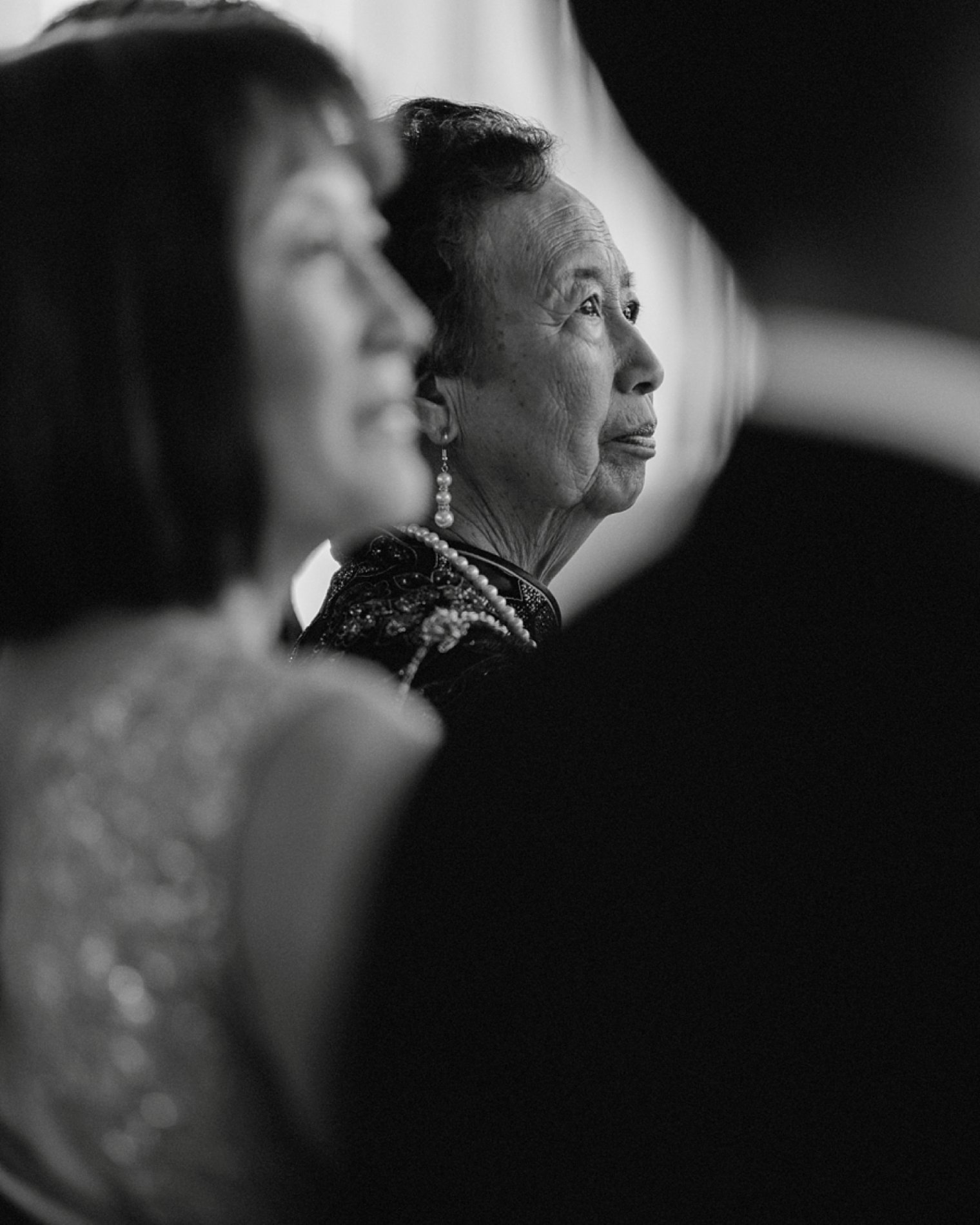 emotional grandmother during wedding