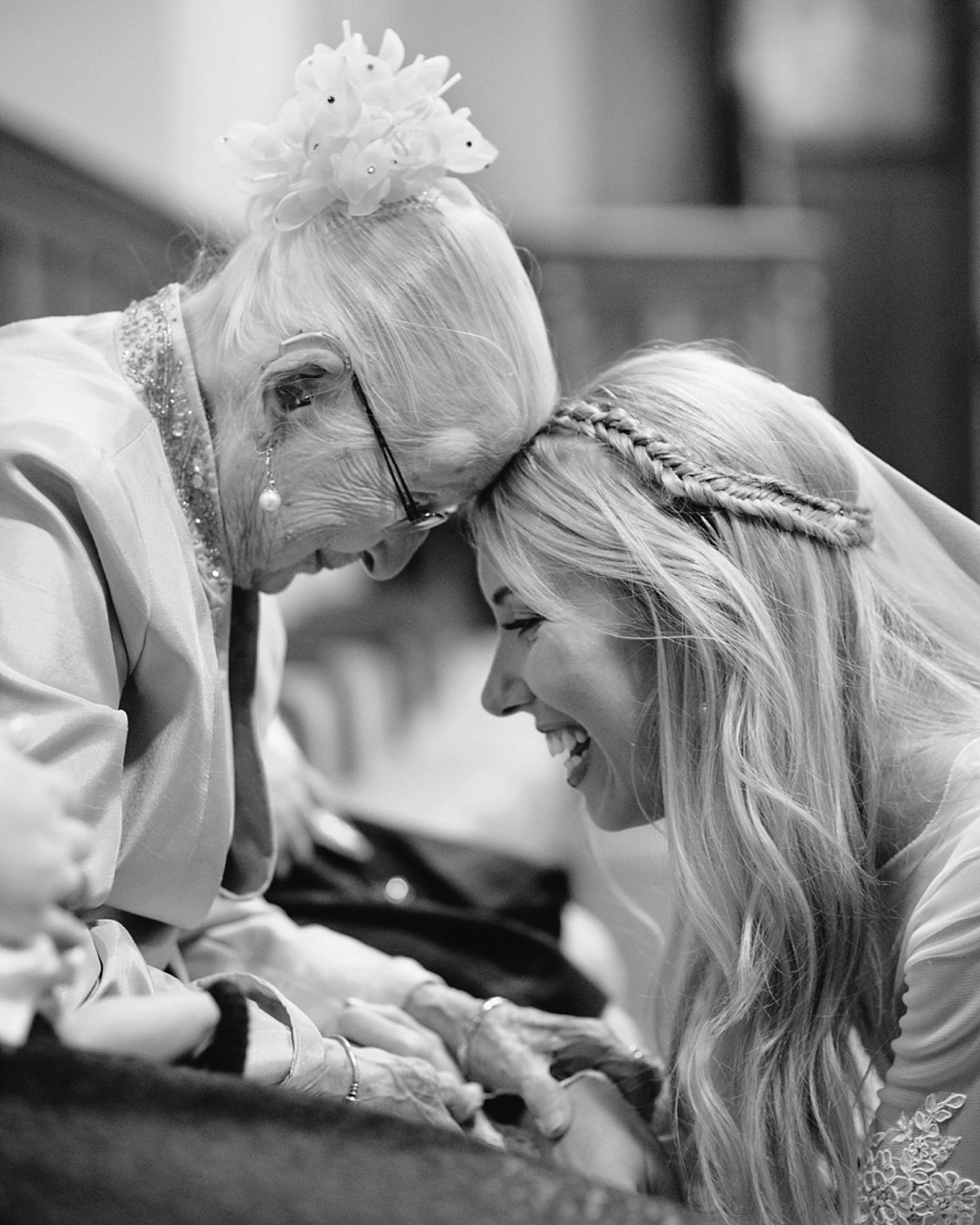 emotional grandma and bride