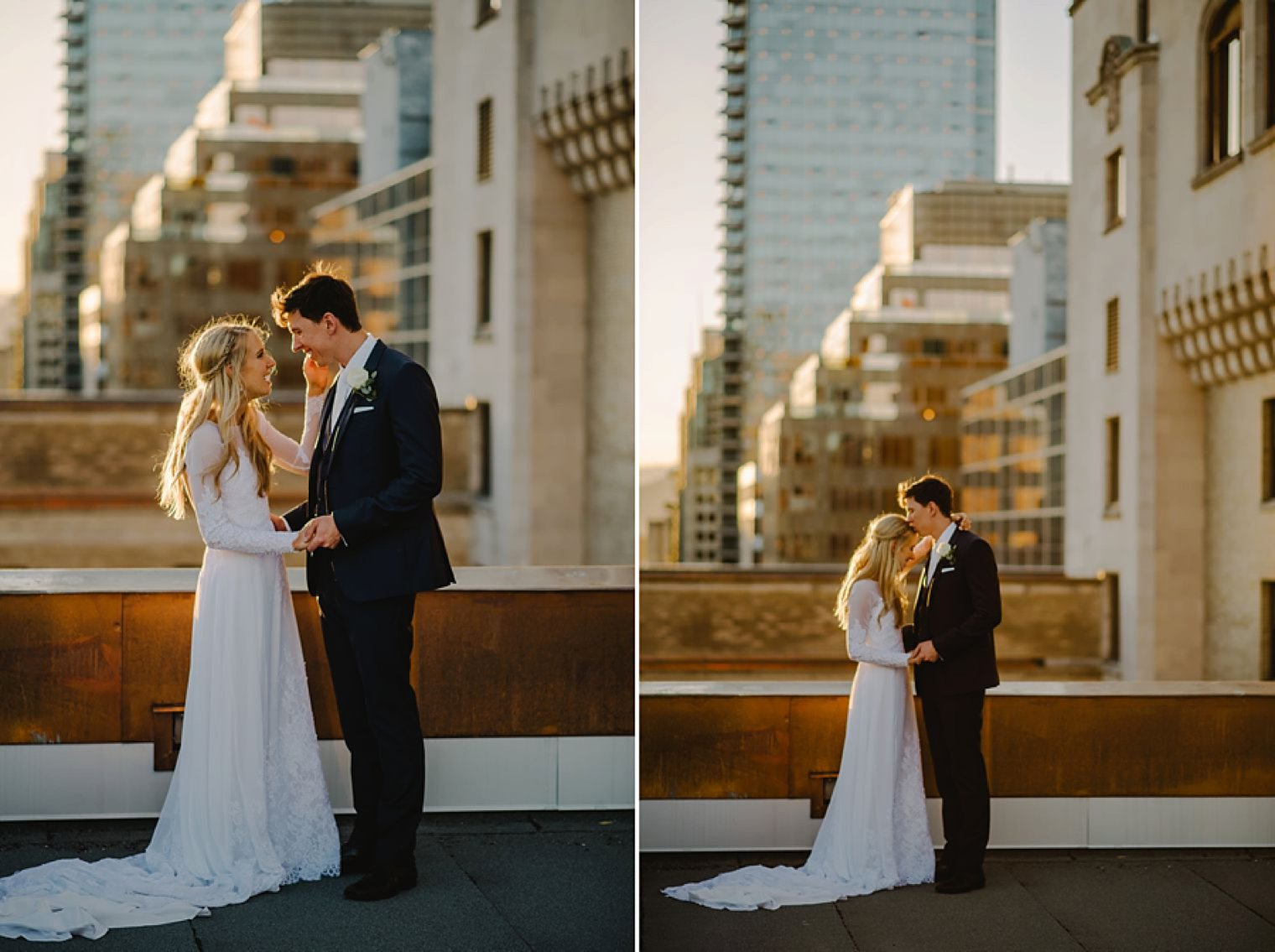 vancouver rooftop sunset portraits