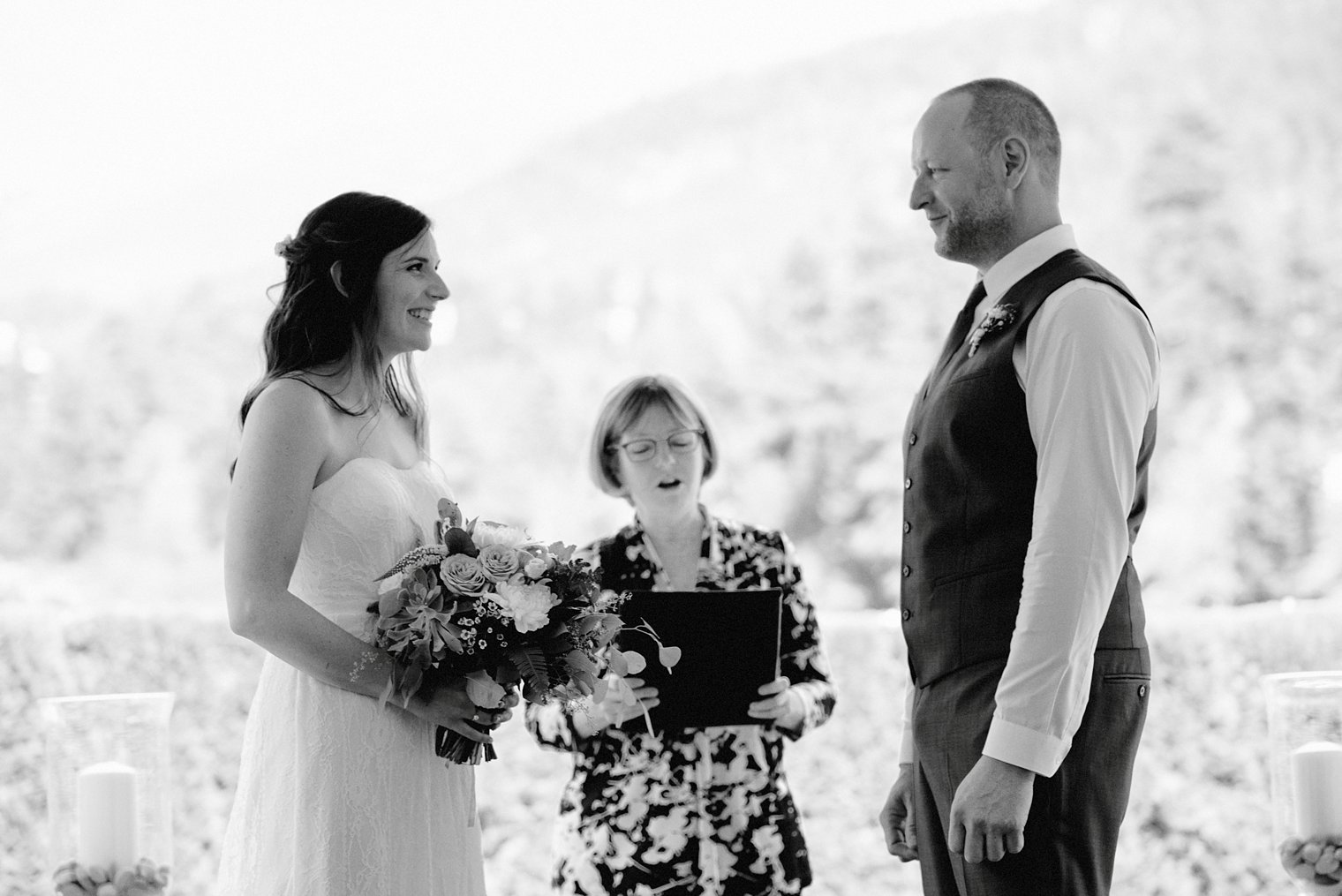 whistler backyard wedding ceremony