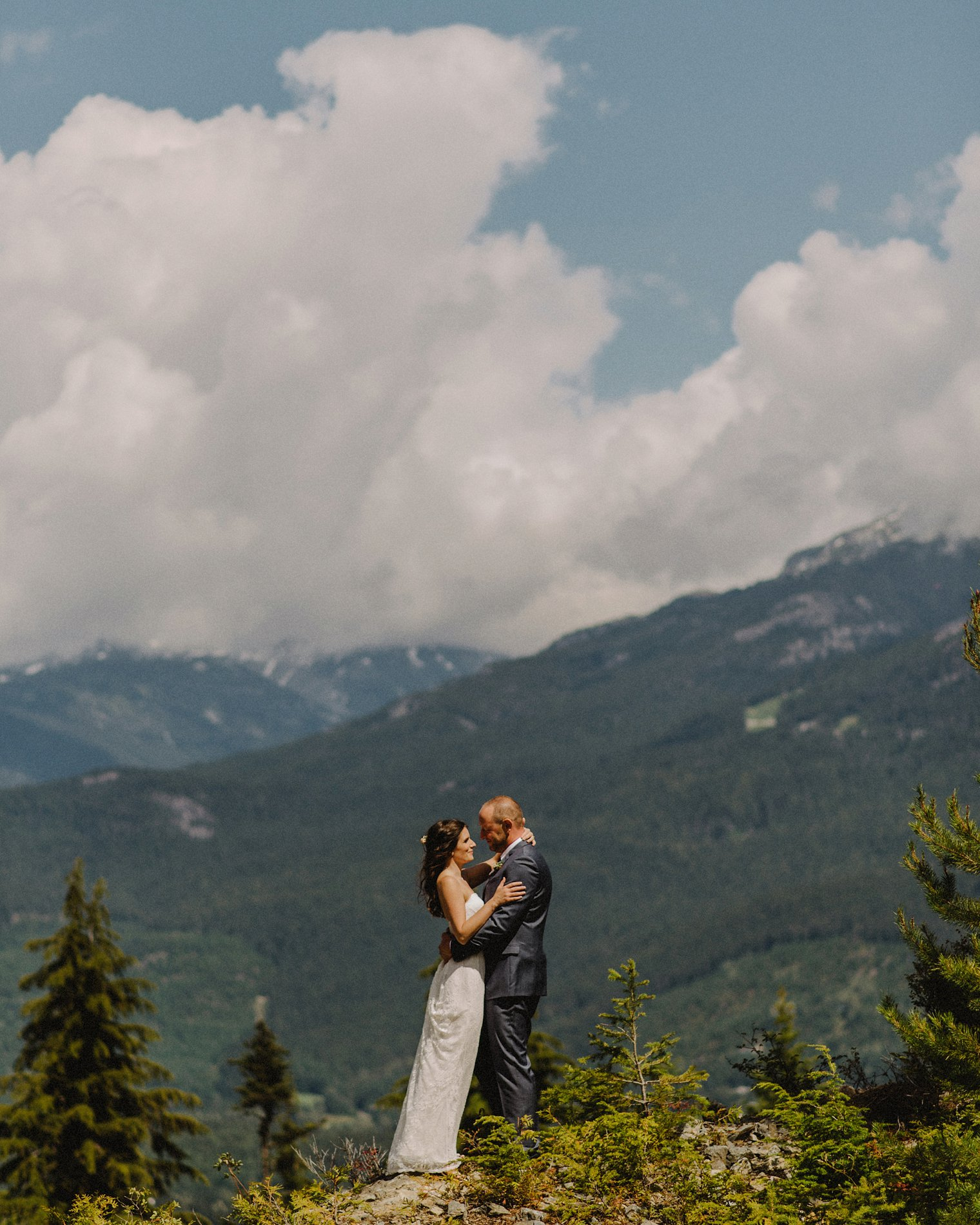 wedding portrait on top of whistler