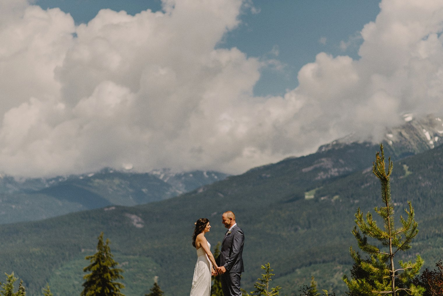 whistler mountaintop wedding portrait