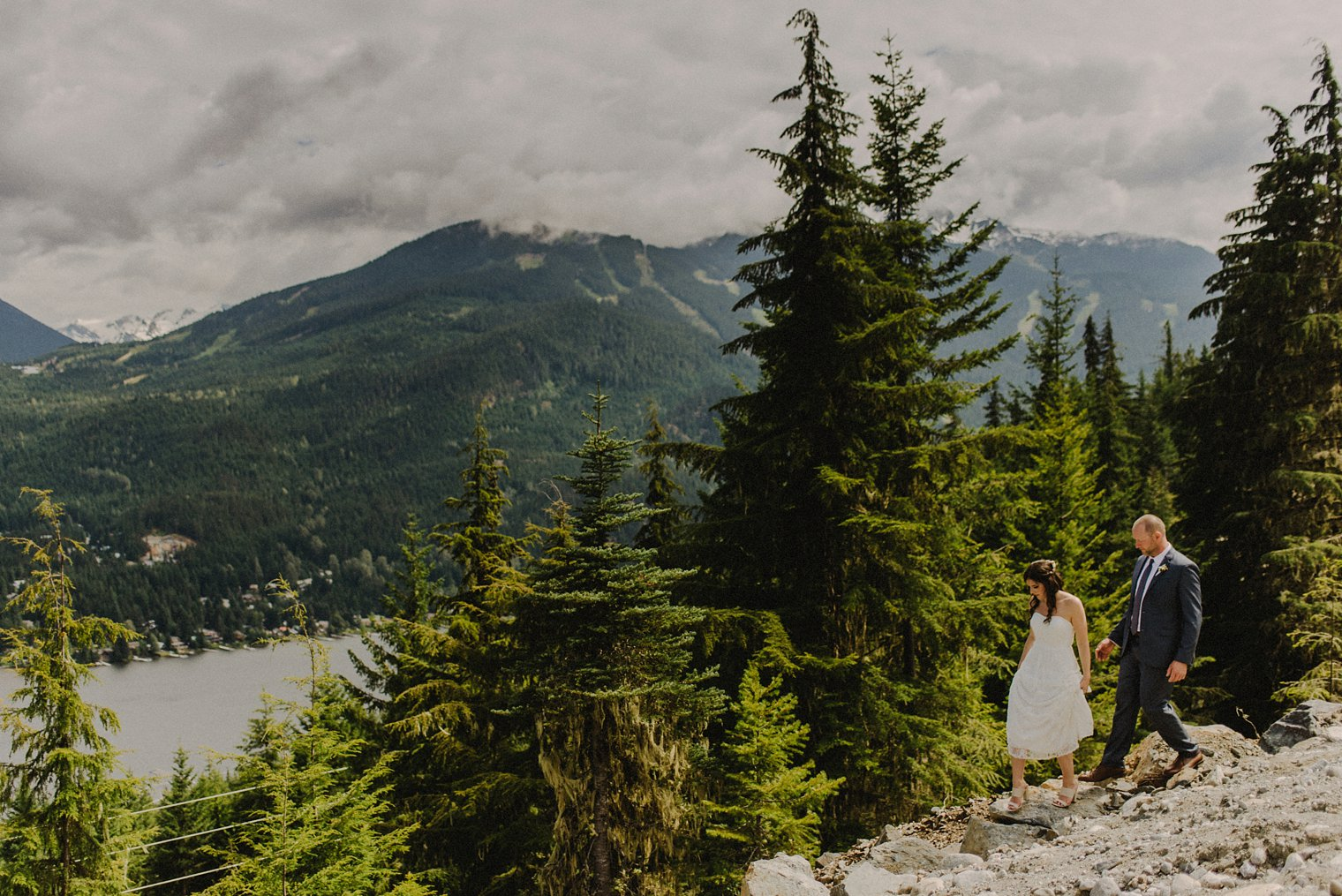 whistler mountain wedding portraits