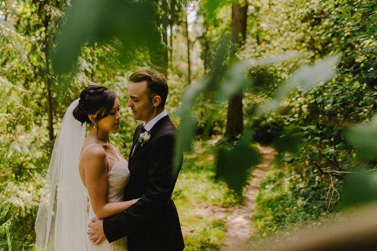 wedding portrait at a vancouver park