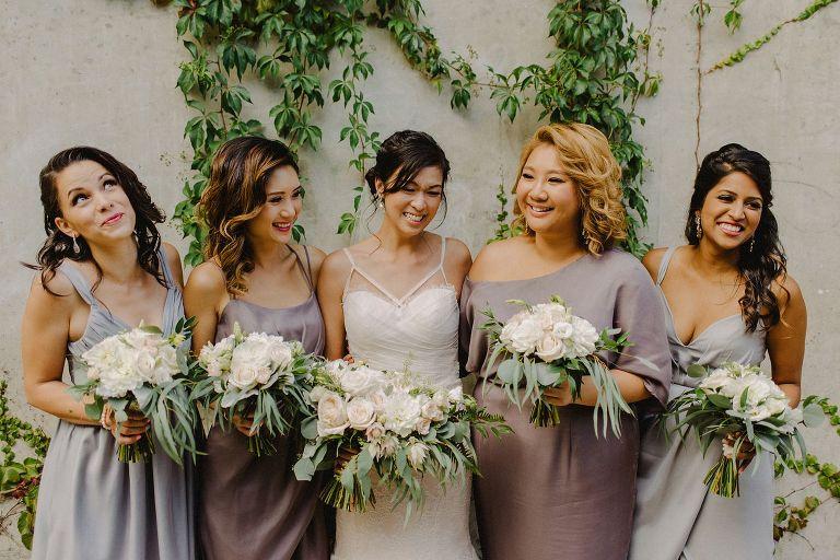 unique grey bridesmaid dresses
