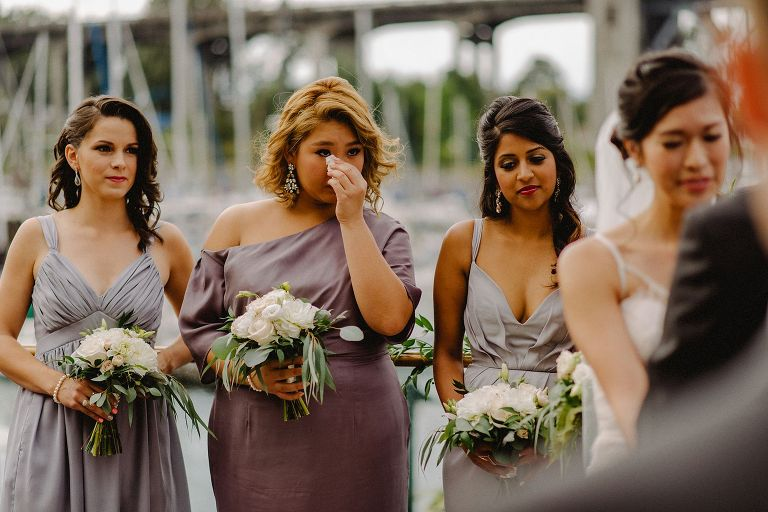 wedding ceremony at granville island in vancouver