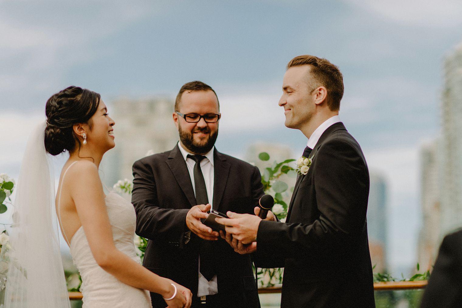 granville island wedding ceremony in vancouver