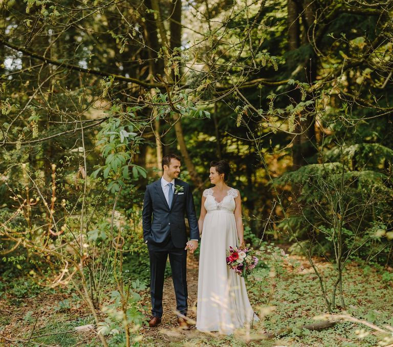 vancouver forest bride and groom