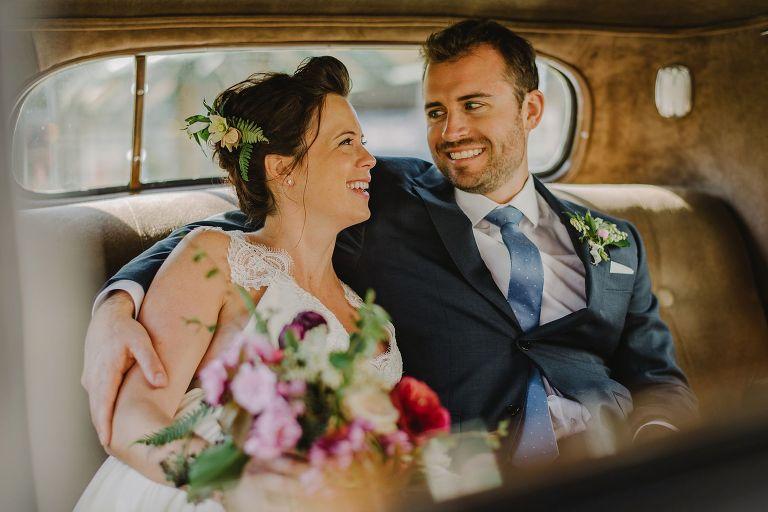 vancouver classic car wedding portrait