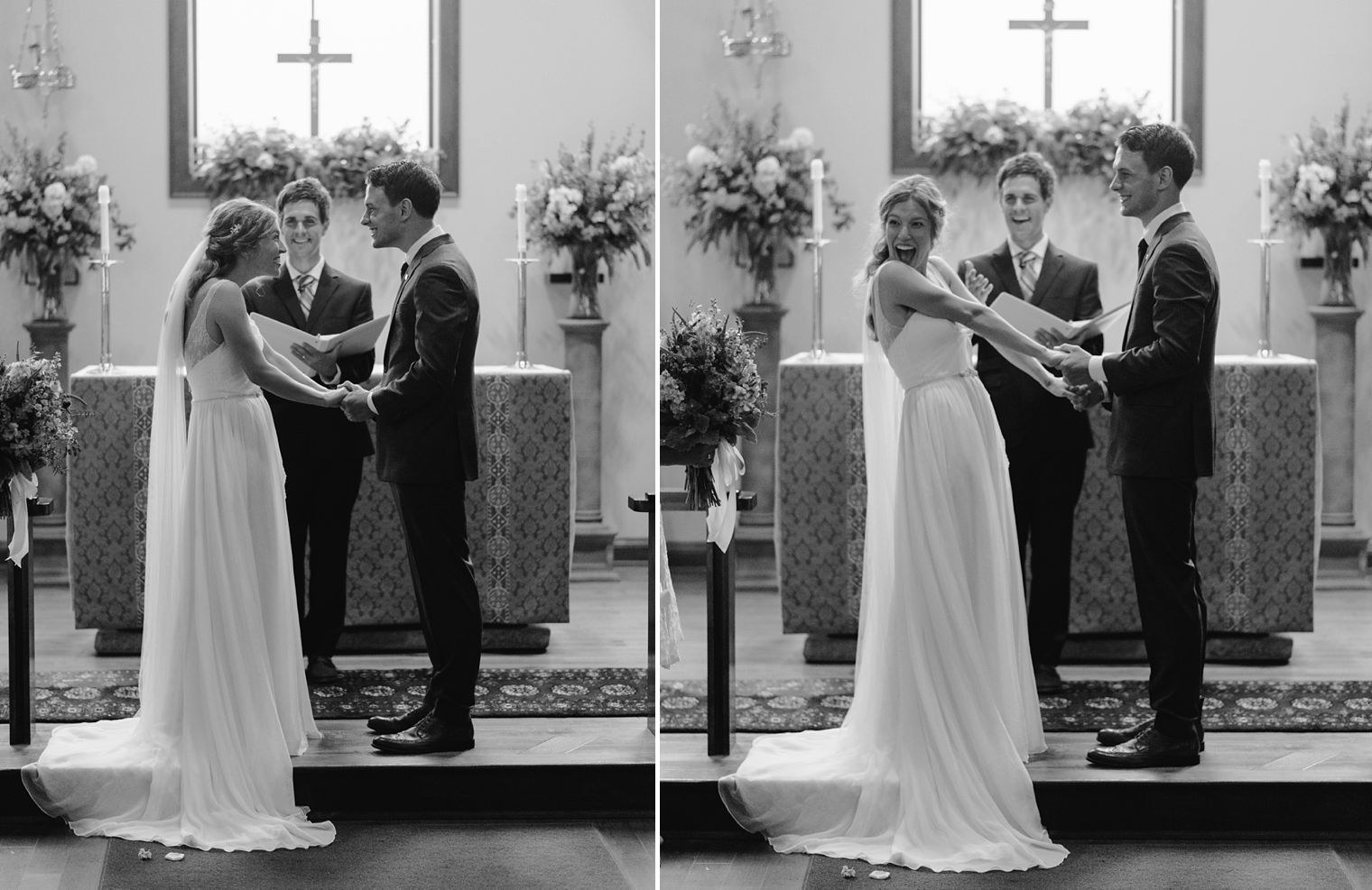 st mary church wedding ceremony in dousman