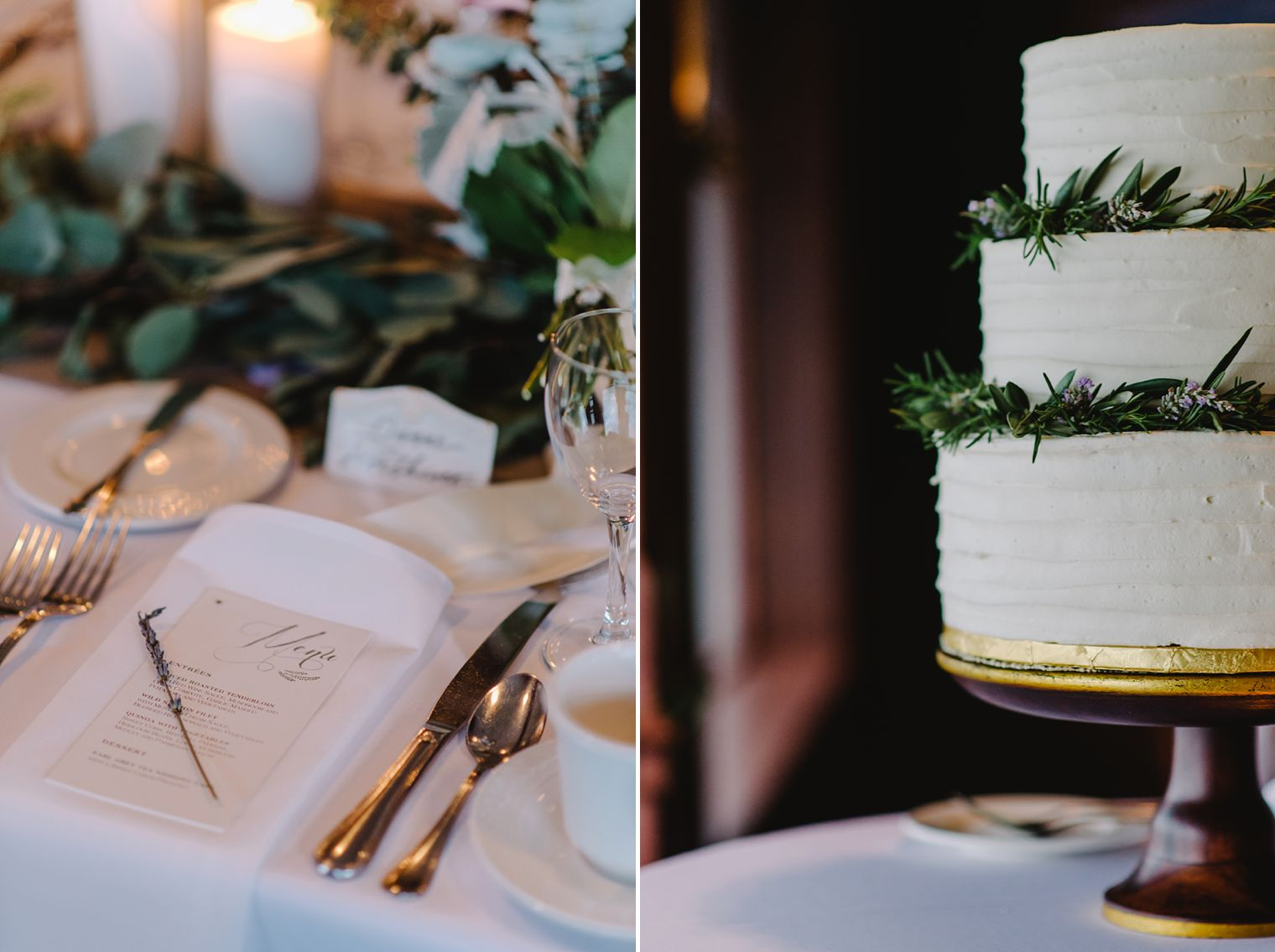 wedding details at Occonomowoc lake club