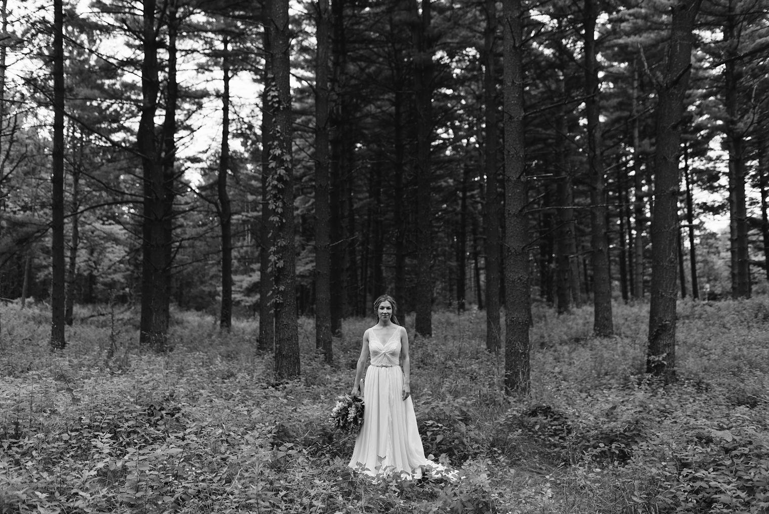 Occonomowoc forest wedding