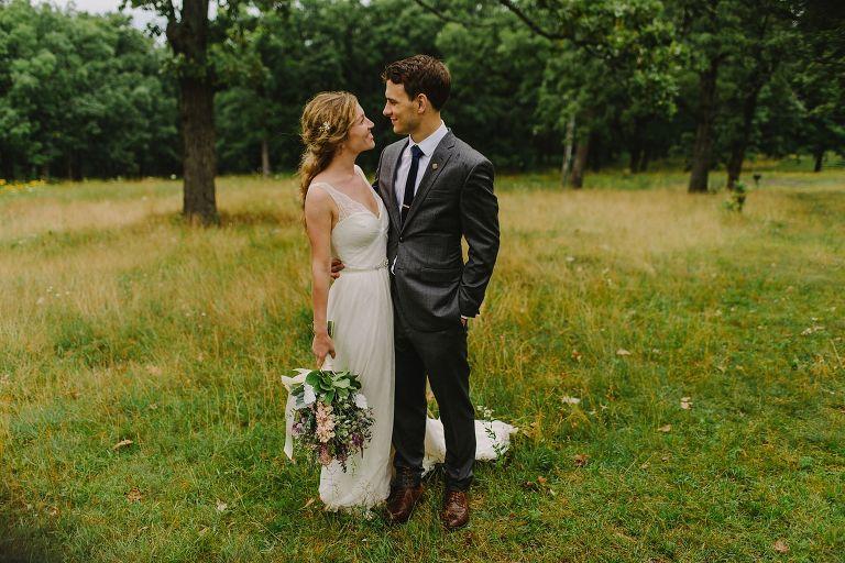 Occonomowoc bride and groom
