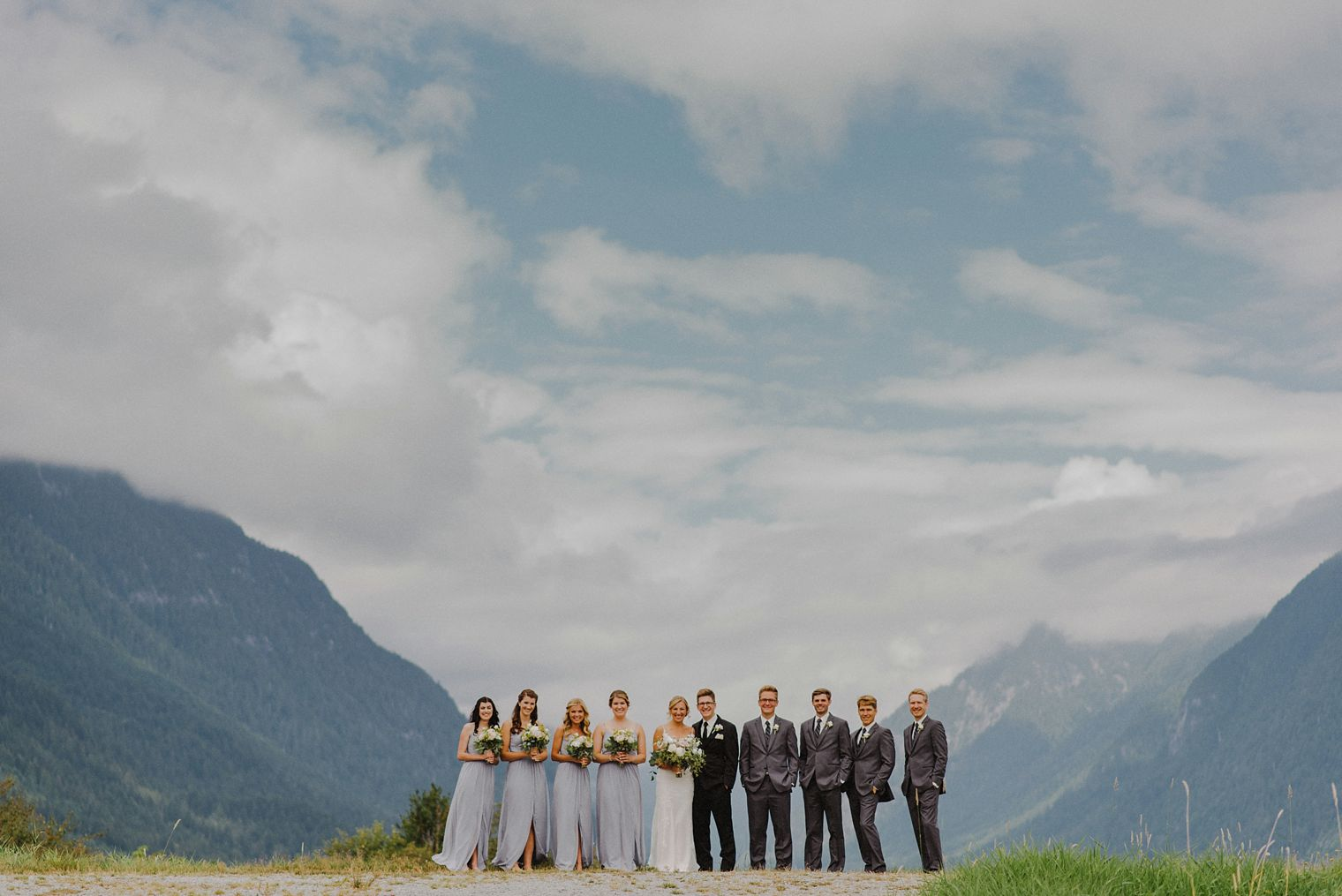 wedding party at pitt lake