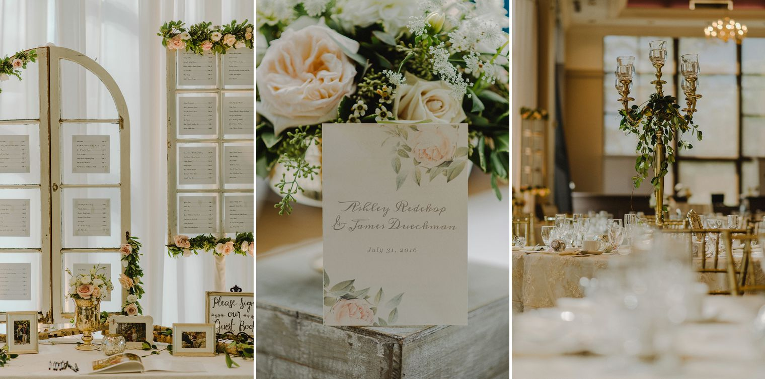 blush floral wedding details