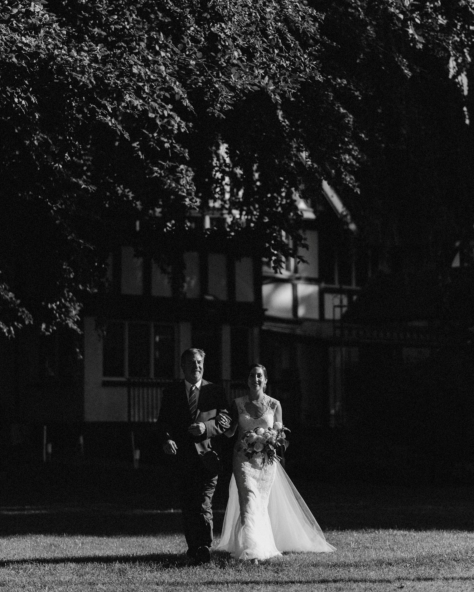 wedding ceremony at brock house in vancouver