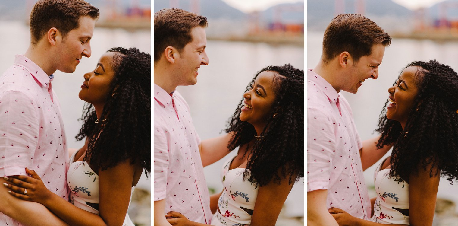engagement photos at crab park in vancouver