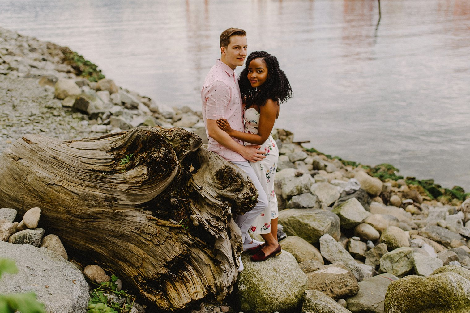 crab park engagement portrait