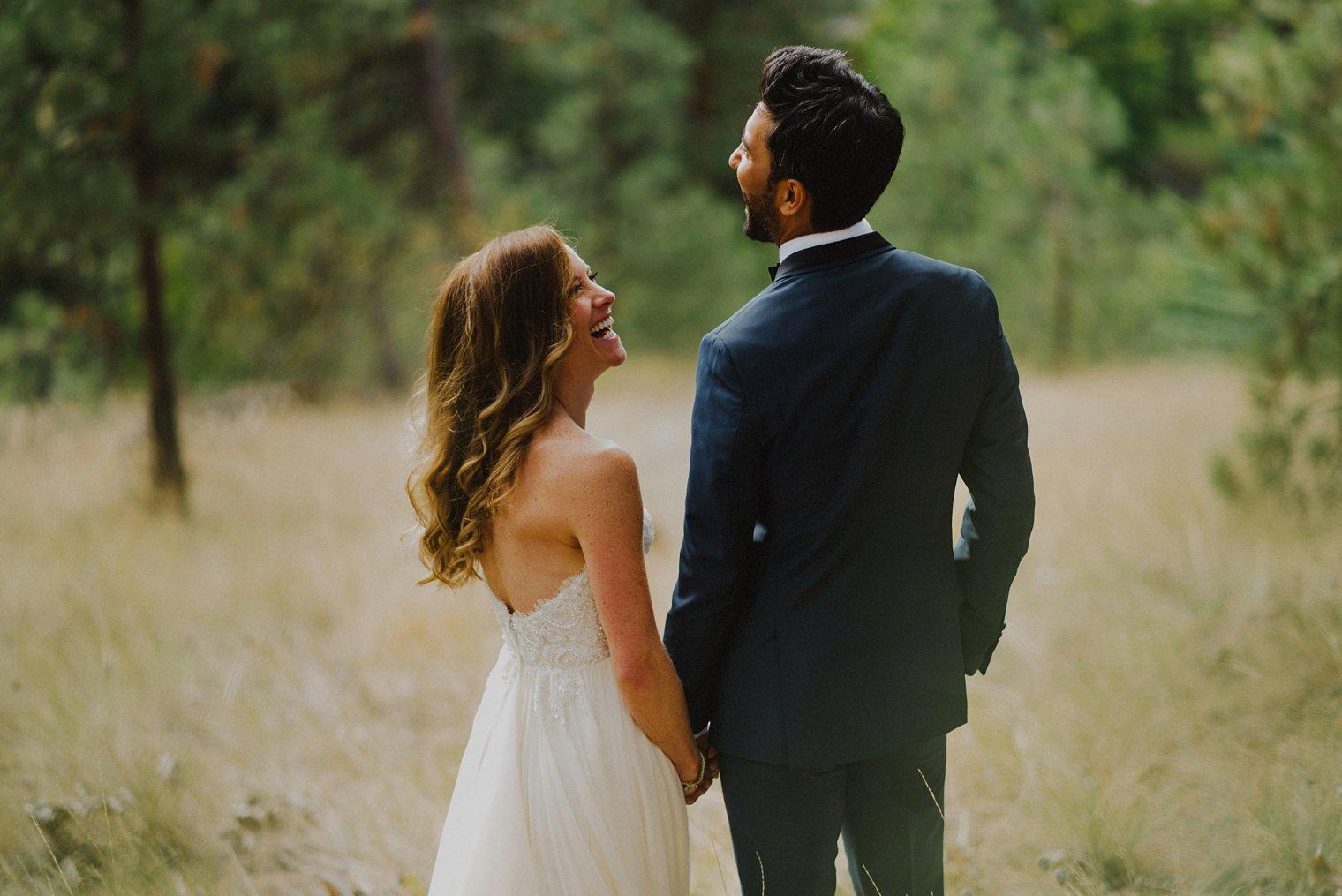 kelowna field wedding portrait