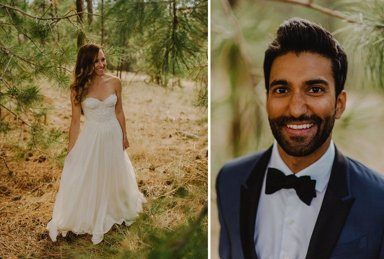 indian groom with white bride