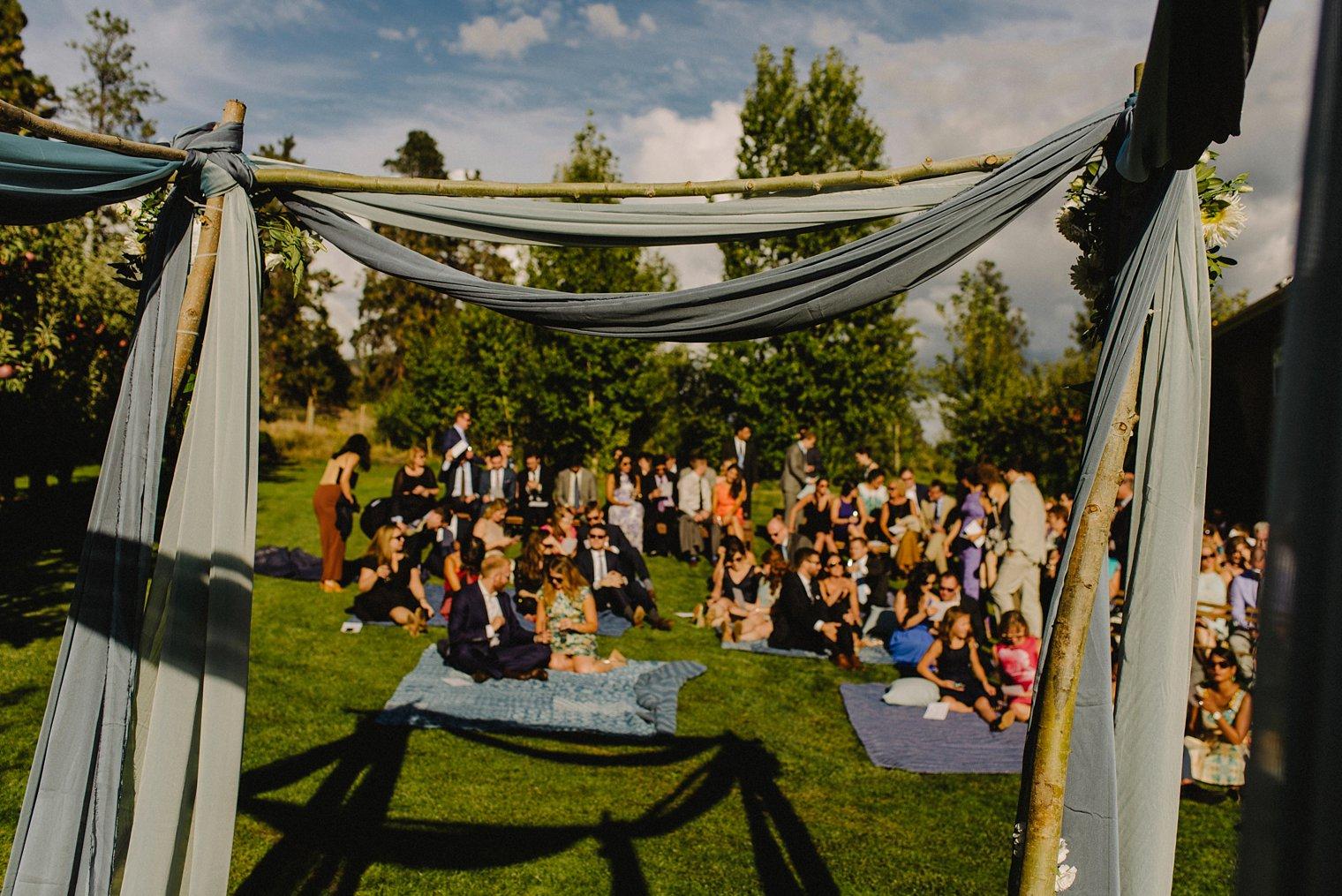 outdoor orchard wedding ceremony kelowna
