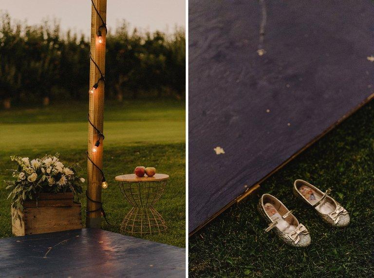 unique outdoor wedding details in kelowna
