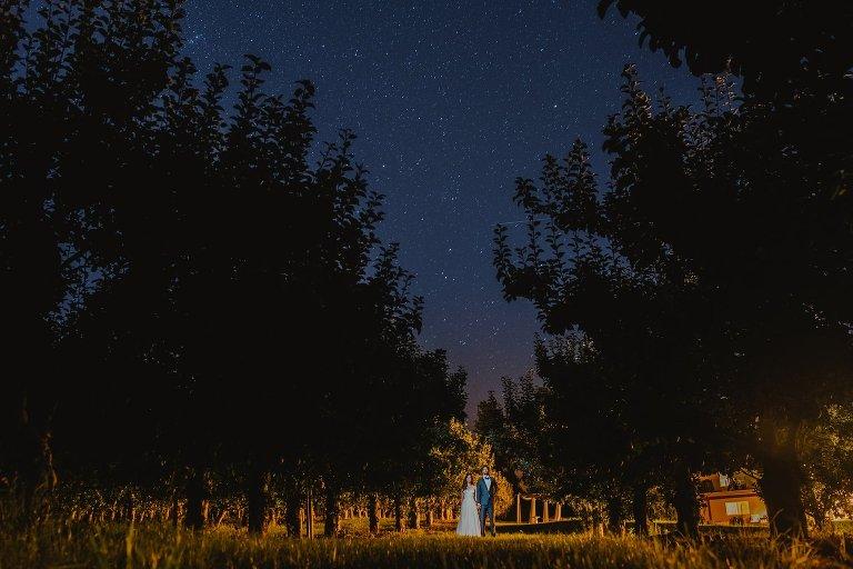 unique constellation wedding portrait