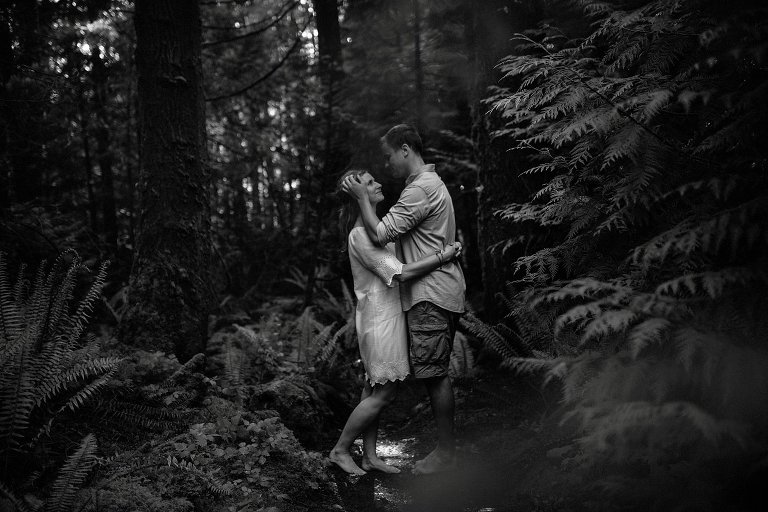 waterfall engagement portrait session vancouver