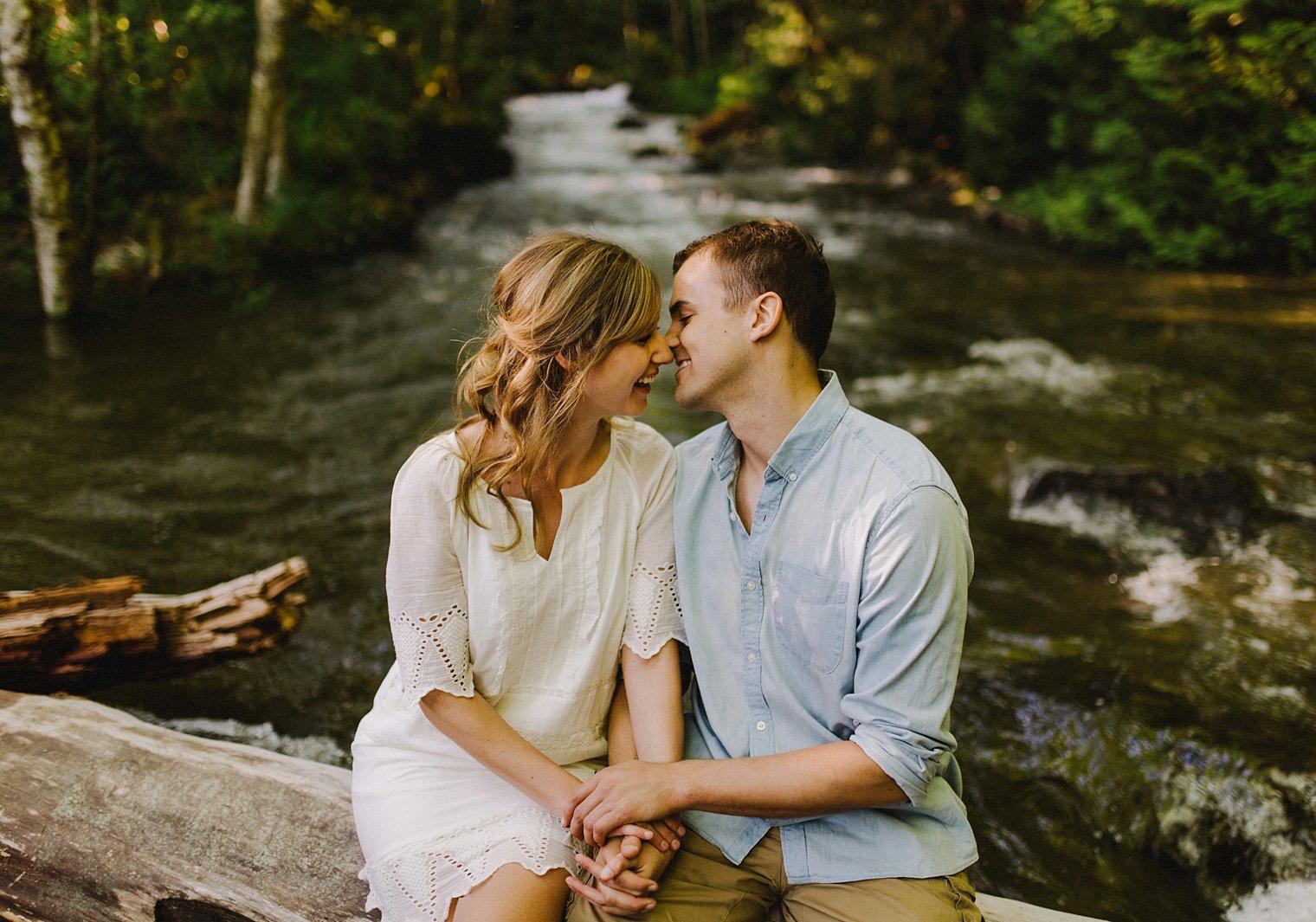 intimate harrison lake engagement