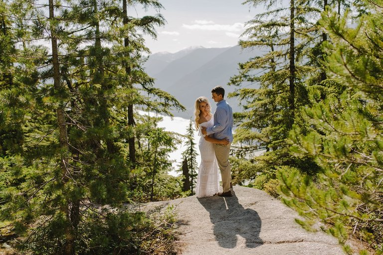 candid sea to sky engagement session