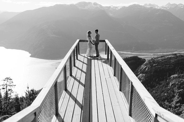 mountain viewing platform engagement