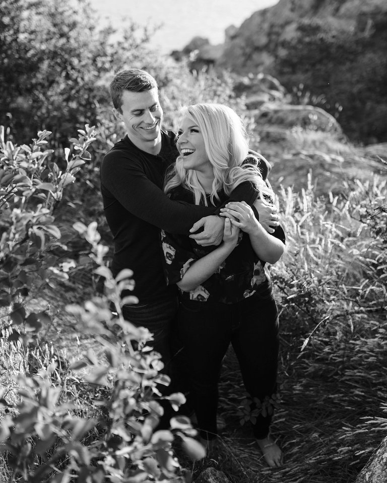 candid whytecliff park engagement