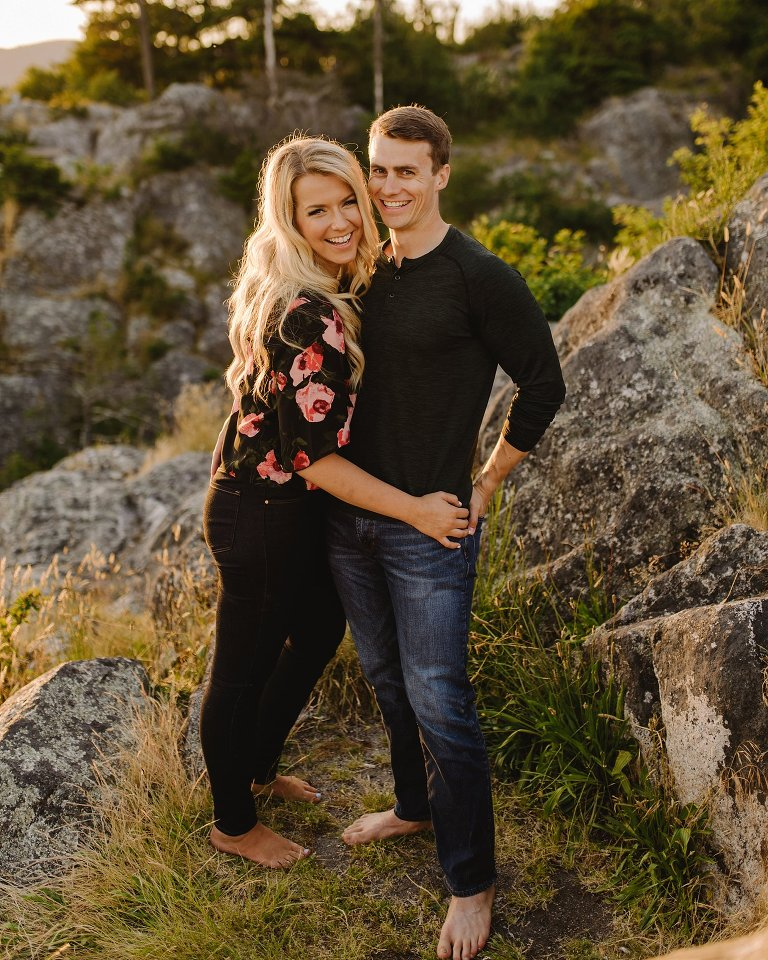 candid engagement session at whytecliff park