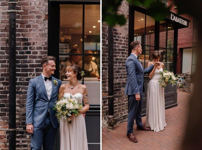 wedding at labattoir restaurant in gastown vancouver