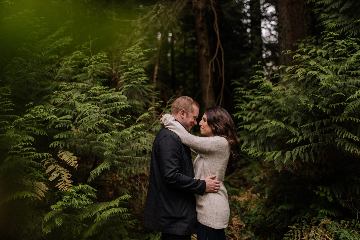pacific spirit park engagement photos