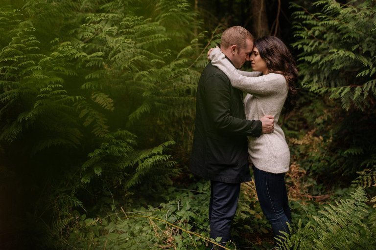 engagement session in pacific spirit park in vancouver