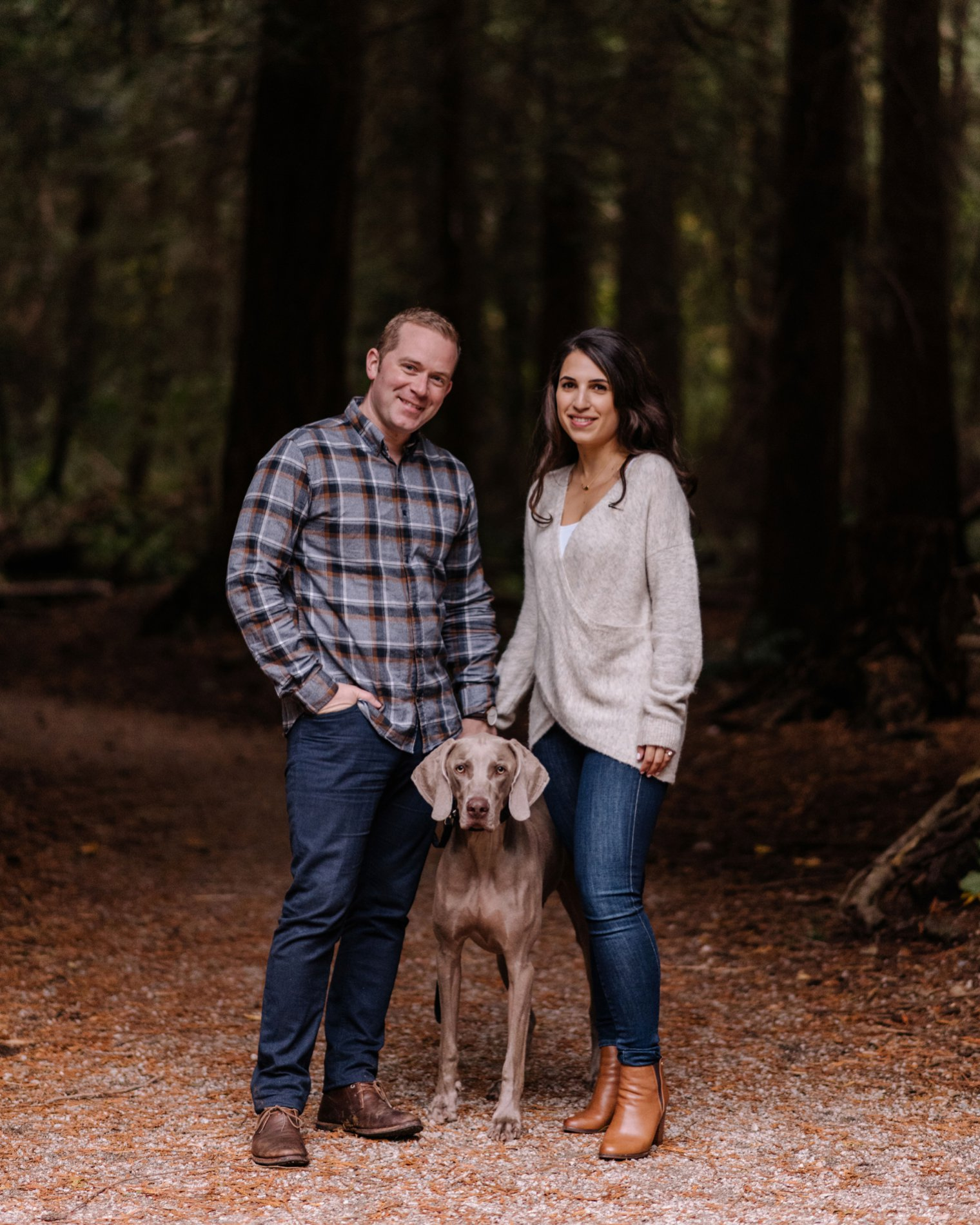 vancouver engagement photo with dog