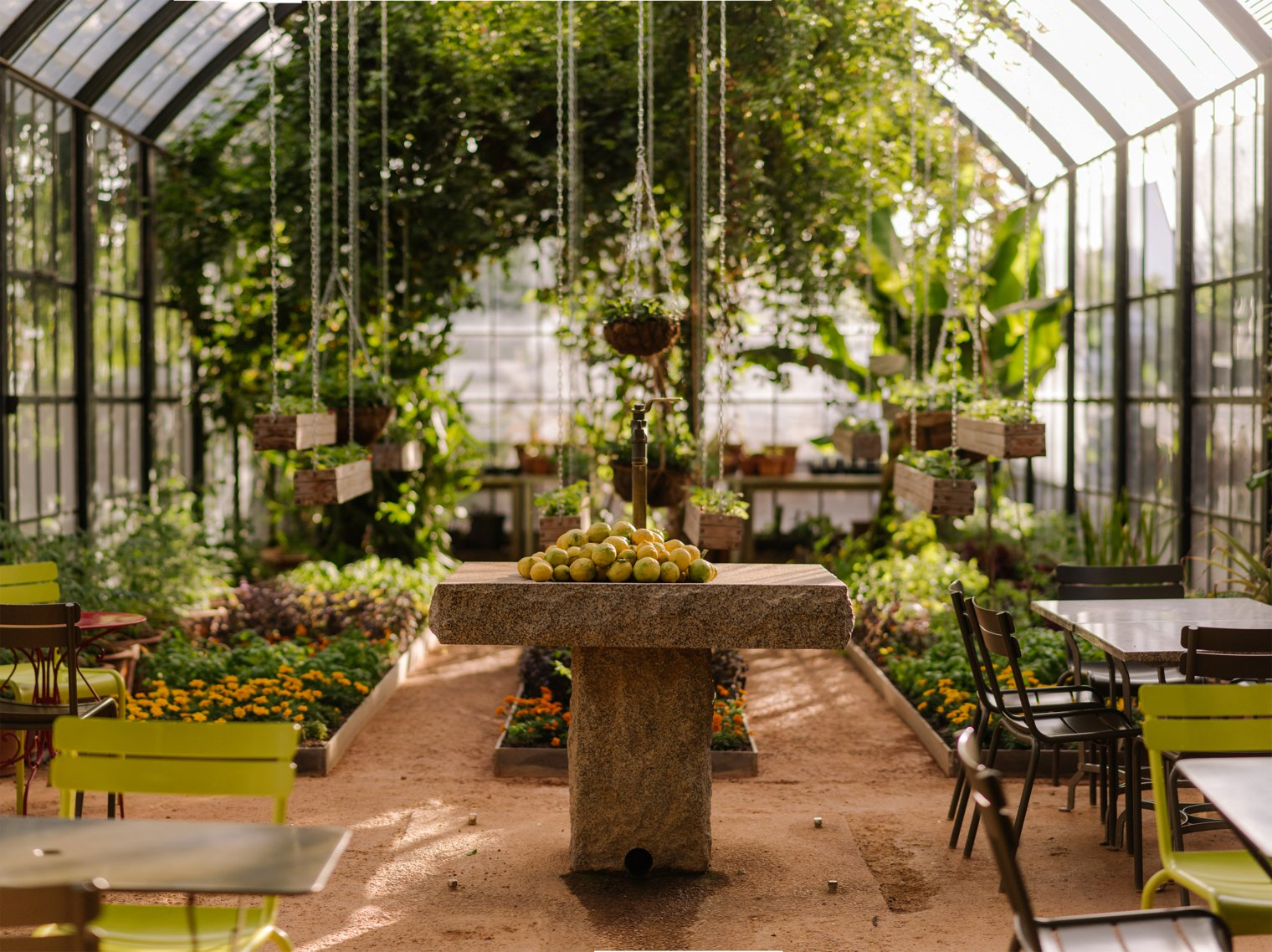 greenhouse at babylonstoren in stellenbosch