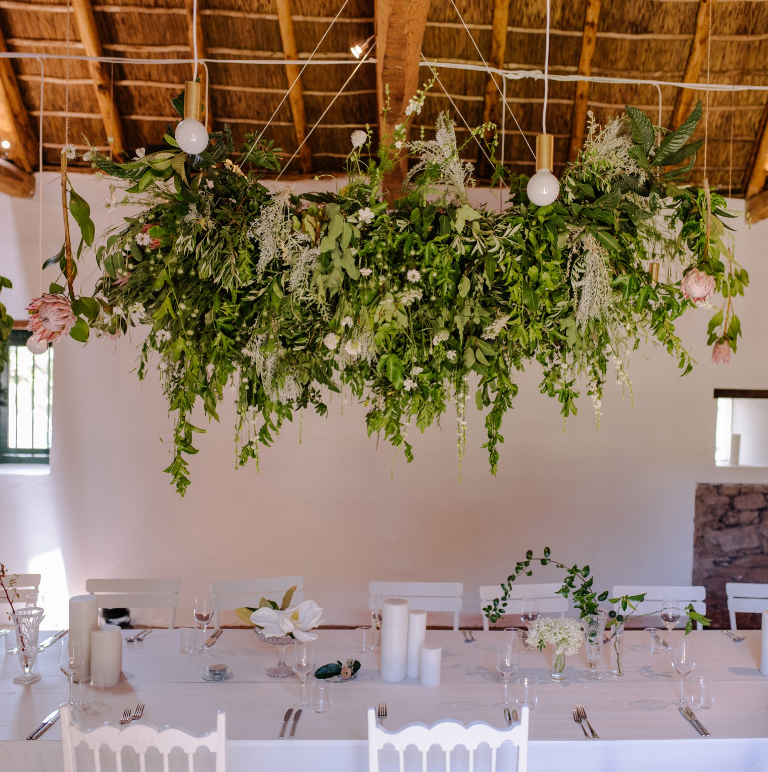 unique wedding decor at babylonstoren