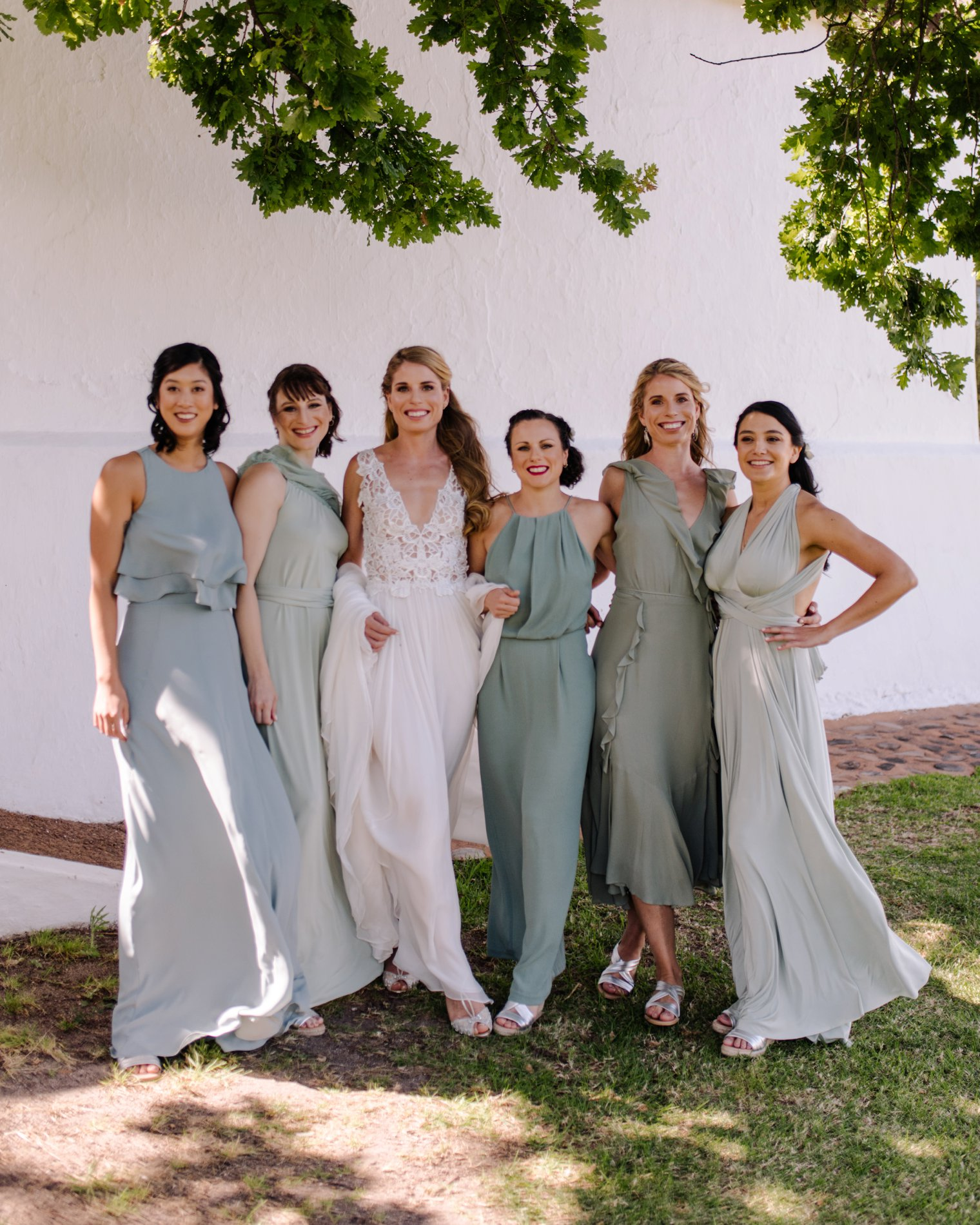 bridesmaid photos at babylonstoren
